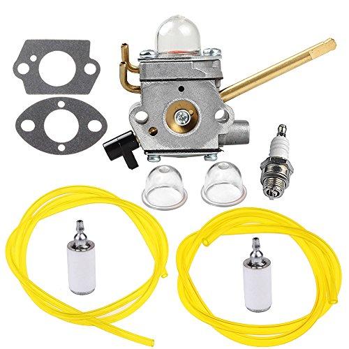 HIPA 308028007 Carburetor with Gasket Fuel Line Filter for Homelite UT08520 UT08550 UT08921 UT08951 26CC Blower