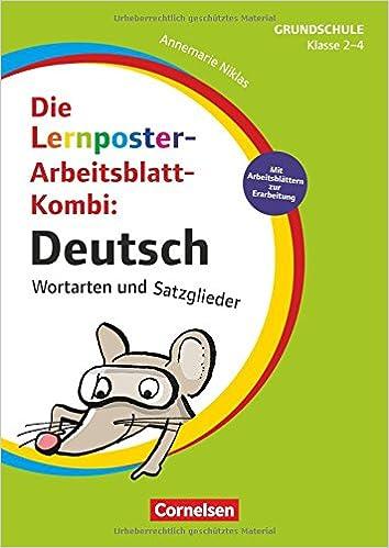 Lernposter für die Grundschule: Klasse 2-4 - Deutsch - Wortarten und ...