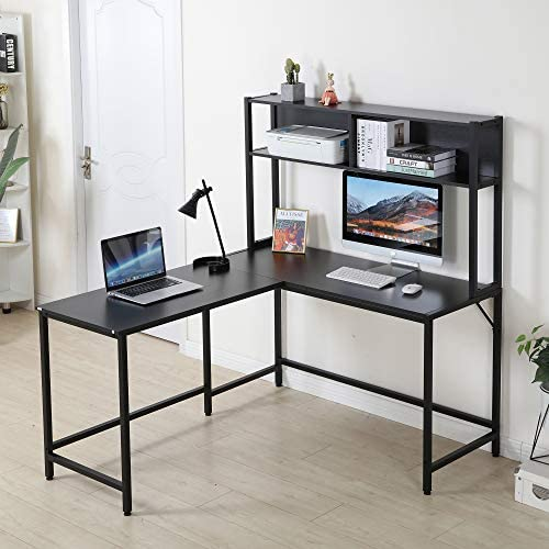 YOLENY 55 Inch L-Shaped Computer Desk