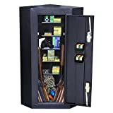 First Watch / Homak 10-Gun Security Corner Cabinet, Black, HS30136010