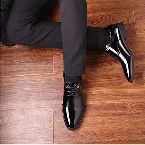Scarpe Casual Da Uomo Oxford Derby Business Scarpe Stringate Da Cerimonia Formale Scarpe Classiche Da Ufficio Black
