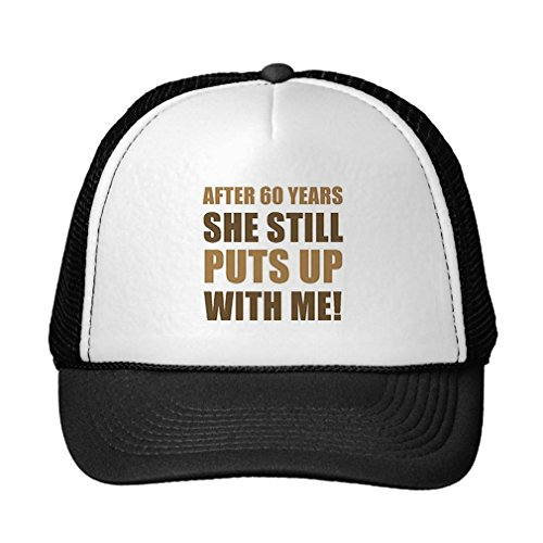 Funny 60Th Anniversary Humor for Men Trucker Hat Black
