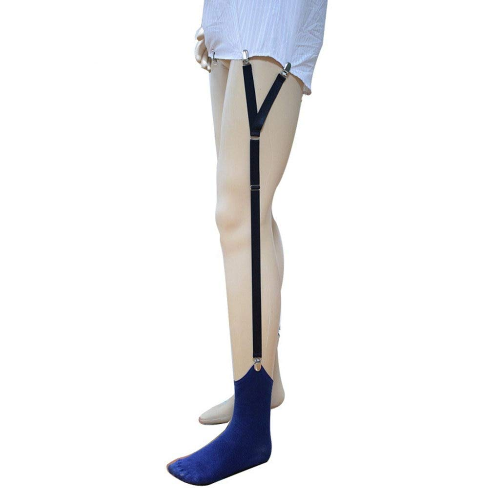 GOP Store Y-Shape Stays Holder Shirt High Elastic Uniform Business Suspender Garter Military Straight Stirrup Elastic Garters for Men Wear