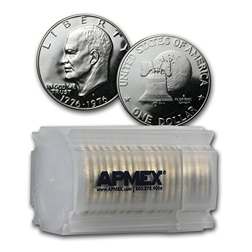 Roll Dollar Eisenhower (1976 S 40% Silver Eisenhower Dollar 20-Coin Roll Gem Proof Dollar About Uncirculated)