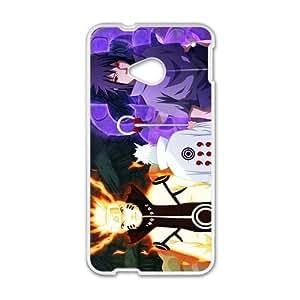 Cartoon Anime Naruto White HTC M7 case