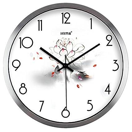 Moju super silencioso muro relojes marcando no barrido tranquila relojes decorativos para el Salón Dormitorio Comedor