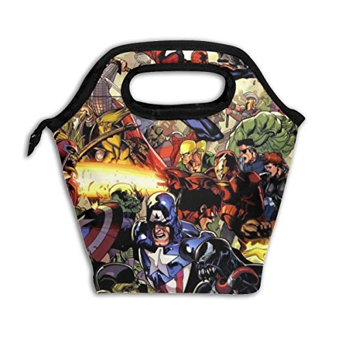 Kids Lunch Bag Vill-ains SuperHero Lunch Box Boys&Girls Insulated Reusable Lunch Tote Picnic Bags Ice Pack For Adult Men Women -