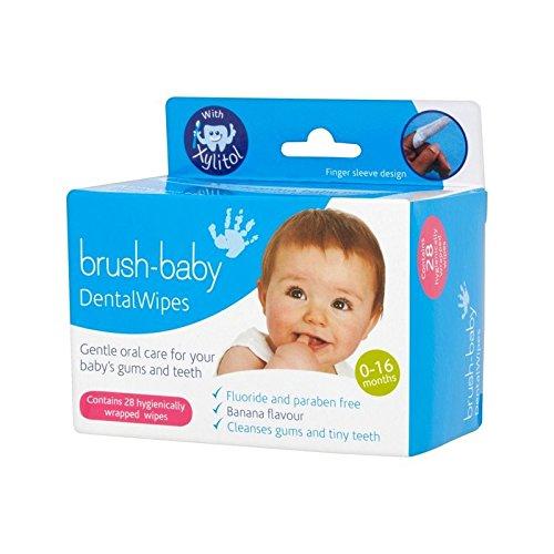 なんでも成分姿を消すブラシ赤ちゃん歯科ワイプ (Brush-Baby) - Brush Baby Dental wipes [並行輸入品]