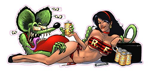 """Rat Fink Pin up Girl Decal 6"""" From the United States"""