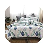 Bedspread Leaves Print Quilt Cotton Thick Throws Blanket Fashion Pl Warm Bedding Filler
