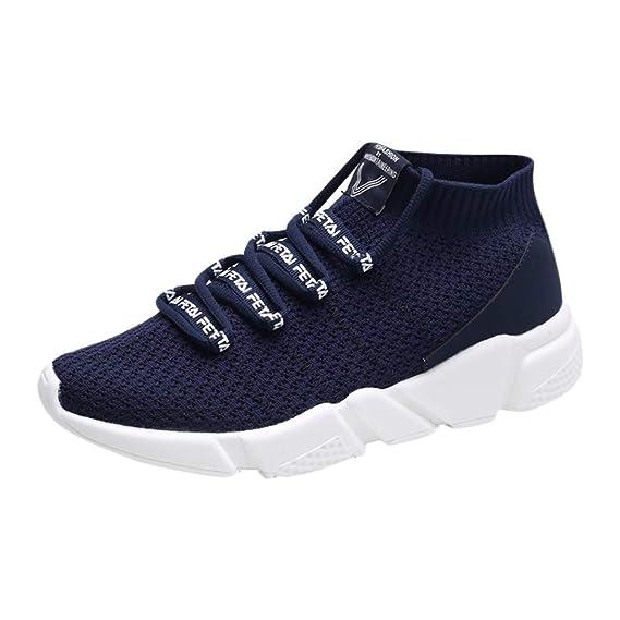 ZARLLE Zapatillas de Correr Hombre Mujer Par Estampado Patchwork Casual Cómodas Zapatillas de Deporte Hombres Zapatos de Gimnasia para Caminar de Peso ...