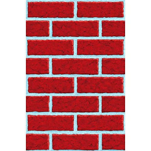 Amscan Very Merry Christmas Party Brick Wall Scene Setters Room Rolls Decorations, Vinyl, 48