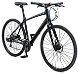 Schwinn Vantage F3 700c Sport Hybrid Road Bike with Flat Bar and Disc Brakes, 60cm/Extra Large Frame, Black