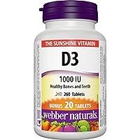 Webber Naturals Vitamin D3 Tablet, 1000 IU