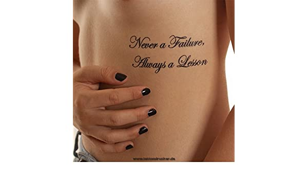 Never a failure always a lesson tattoo designs