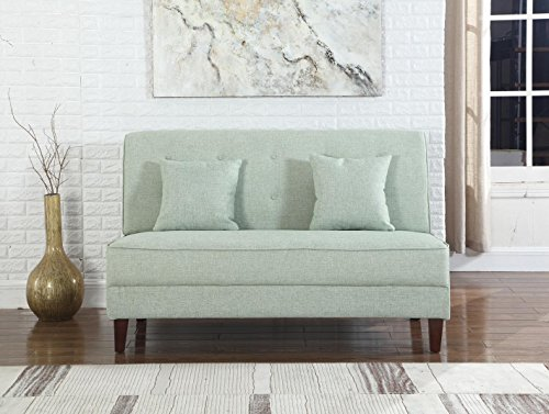 NHI Express 73023-62GN Button Tufted Loveseat Not Applicable, 60 L x 33 W x 37