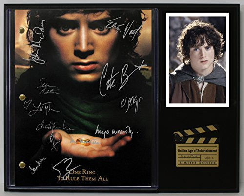 "LORD OF THE RINGS LTD EDITION REPRODUCTION SIGNED CINEMA SCRIPT DISPLAY""C3"""