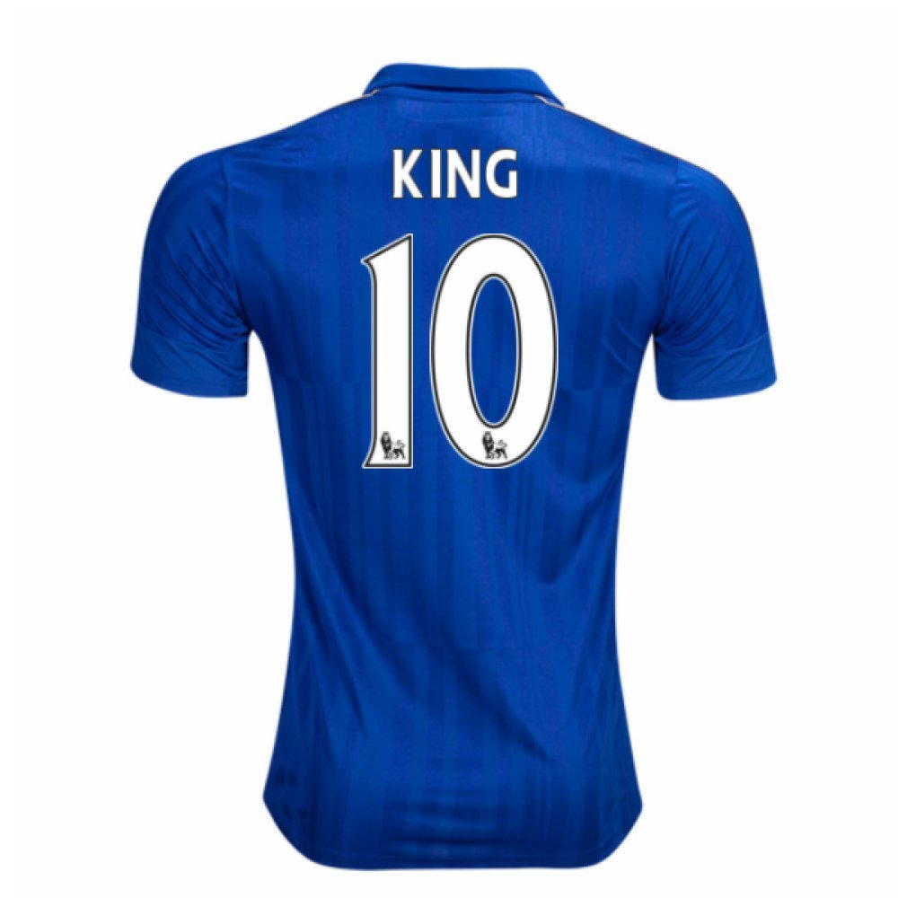 2016-17 Leicester City Home Shirt (King 10) B077WPVJLGBlue Small Adults