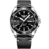 YELANG V1020 mens steel waterproof 100m T100 tritium luminous dual calendar business automatic mechanical wrist watch