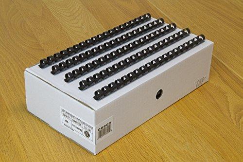 - USI Black Plastic Binding Combs, 19-Hole, 0.50 Inch Diameter, 84 Sheet Capacity, 200-Pack