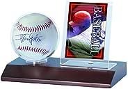 Ultra Pro MLB Dark Wood Base Ball and Card Holder, Multicolor (81674)