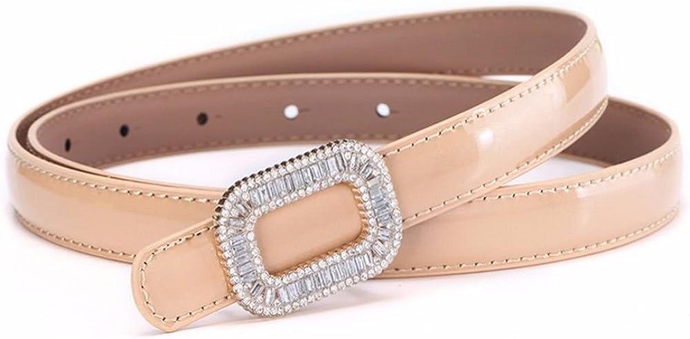 NSSBZZ Birthday Gifts Fashion Water Drill Adornment Waist Belt Female fine Decorative Leather Leather Dress Summer Dress