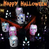 Halloween Lights LED Battery Operated 3D Halloween Lights, Halloween Skeleton Lights Decoration Indoor Outdoor Home Garden Holiday Party(12 Pack)