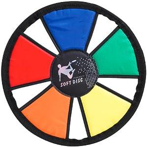 Playtastic Soft-Frisbee Freestyle: Wurfscheibe aus verstärktem Nylon