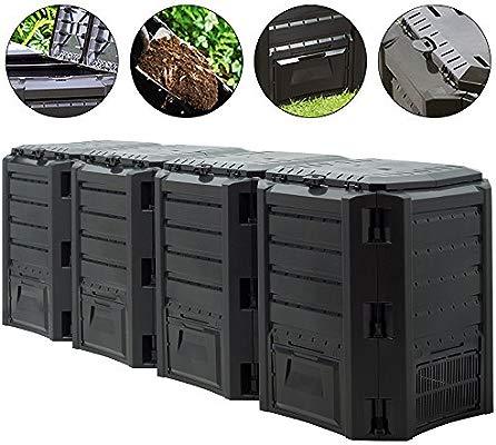 Deuba Compostador termocompostador (compostador rápido 380L - TI ...