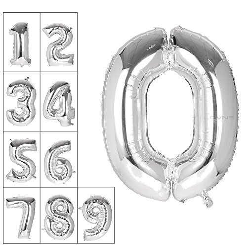 Lovne Silver Balloon Birthday Decorations product image