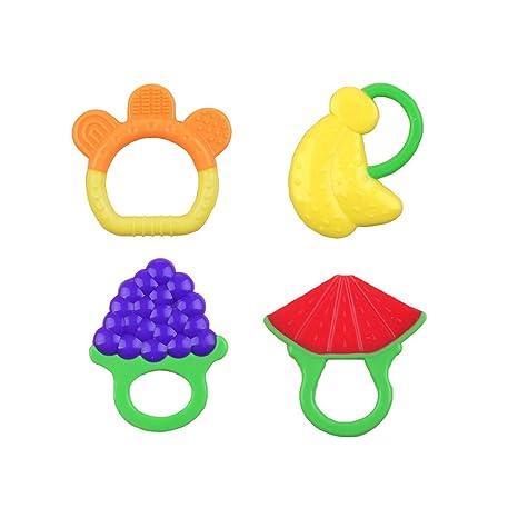 Forma bebé juguetes para la dentición de la fruta suave ...