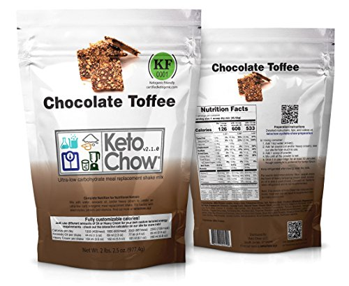 (Keto Chow Keto Meal Replacement Shake: delicious, easy meals for keto diet, complete keto meal, on the run keto meal (Chocolate Toffee 2.1, 21 Meals))