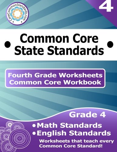 Math Worksheets common core 4th grade math worksheets : Fourth Grade Common Core Workbook: Worksheets: CoreCommonStandards ...