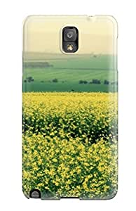 Special MichaelTH Skin Case Cover For Galaxy Note 3, Popular Green Field Beautiful Area Phone Case