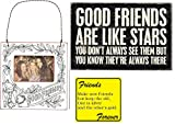 pictures of sunrooms Sunroom Creations 3 Friendship Gifts Bundle - Good Friends Are Like Stars - Mailable Wooden Greeting Card, Mini Good Friends Color Your Own Frame, and Make New Friends Magnet