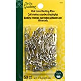 Dritz Coil-Less Curved Safety Pins, Size 1, by Dritz