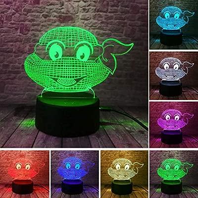 Ninja Turtles 3D Usb Led luz de noche 7 colores Cambiar ...