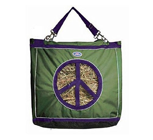Derby Originals Reflective Top Load Hay Bags with Peace Sign Opening, Hunter Green ()