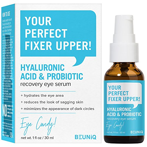 BeUniq Hyaluronic Acid + Probiotic Recovery Eye Serum 1oz / 30ml