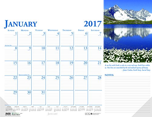 (House of Doolittle 2017 Monthly Desk Pad Calendar, Earthscapes Scenic, 22 x 17