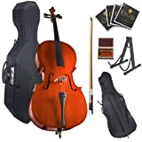 Cecilio CCO-100 Student Cello with Hard and Soft Case, Stand, Bow, Rosin, Bridge