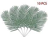 10PCS Artificial Palm Tree Faux Leaves Green Plants Greenery for Flowers Arrangement Wedding Decoration - Warmter