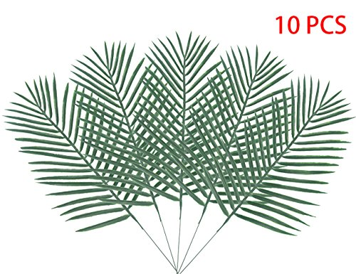 10PCS Artificial Palm Tree Faux Leaves Green Plants Greenery for Flowers Arrangement Wedding Decoration - Warmter by Warmter