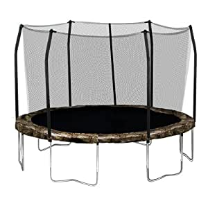 Skywalker Trampolines Round Trampoline and Enclosure with Camo Spring Pad, 12 Feet