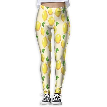 91f8d5a3523c7 15DIW Lemon Fruit Print Yoga Leggings High Rise Yoga Pants Exercise Sports  Joggers