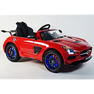 MERCEDES-SLS-For-Kids-Model-SX128-Sport-Battery-Ride-On-Car-With-Control-Parents-Red