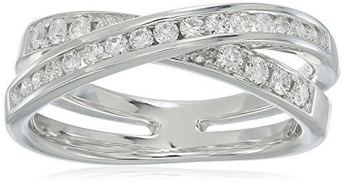 18K White Gold 0.47ctw Diamond Ring (1/2cttw, H-I Color, VS1-VS2 Clarity)