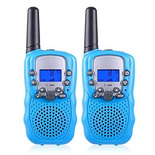 ISCOOL Walkie Talkies for Kids Long Range Two Way Radio Kids Walkie Talkies 22 Channel Outdoor Toys for Girls and Boys(2 PCS ,Blue by iscool (Image #7)