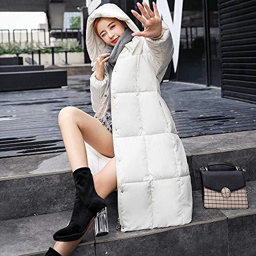 Cappuccio Cotone colore Zhrui Da Invernale Capispalla In M Casual Donna Spessa Con Parka Cappotto Caldo Dimensione Bianca Slim Foderato Giacca aZx1aPg