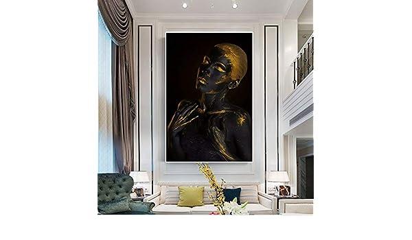 Geiqianjiumai Cartel de Pintura al óleo escandinava Africana Negra ...